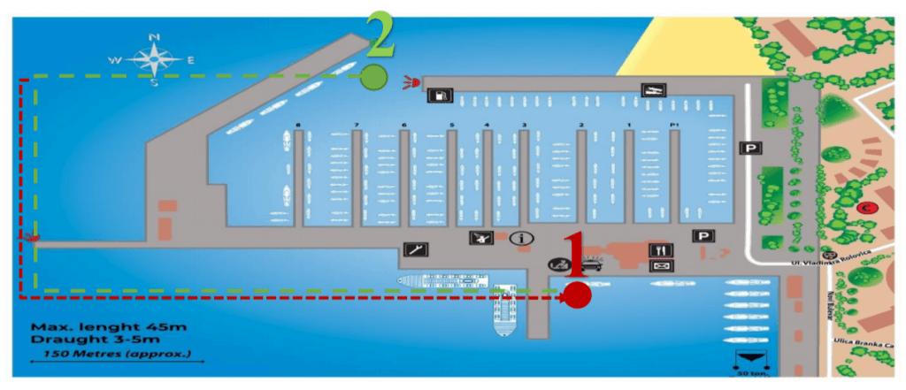 Procedura dolaska u Marinu Bar